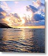 Outrigger Canoes Hanalei Bay Kauai Metal Print