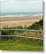 Over The Fence Ocean View Metal Print