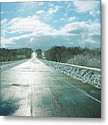 Over The Hill And Beyond Metal Print