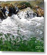Over The Stones The Water Flows Metal Print