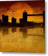 Over The Tower Bridge Metal Print