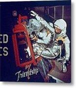 Overall View Of Astronaut John Glenn Metal Print by Everett