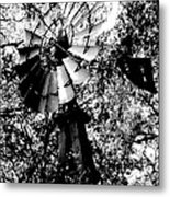 Overgrown Windpump Metal Print