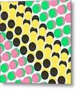 Overlayed Dots Metal Print