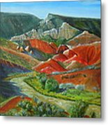 Overlook Near Ghost Ranch Metal Print