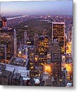 Overlooking Central Park Metal Print