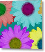 Oversize Daisies Two Metal Print