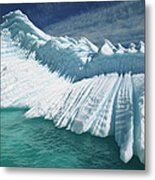 Overturned Iceberg With Eroded Edges Metal Print