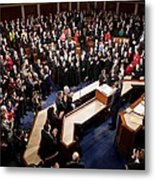 Overview Of The House Chamber Metal Print by Everett