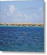 Overwater Bungalows Of Bora Bora Metal Print