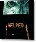 Owl Eye Zipper Sign Times Square Metal Print