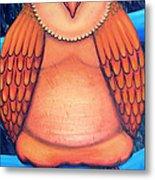 Owl In Oil Metal Print by Barbara Stirrup