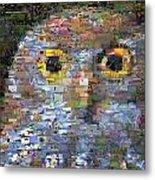 Owl Mosaic Metal Print