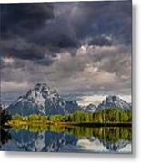 Oxbow Light And Clouds Metal Print