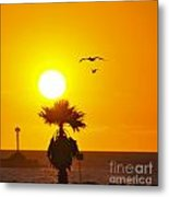 Oxnard At Sunset Metal Print