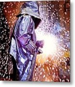 Oxy-acetylene Cutting Metal Print