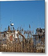 Oyster Boats In Dry Dock  Metal Print