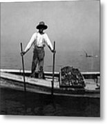Oyster Fishing On The Chesapeake Bay - Maryland - C 1905 Metal Print