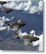 P-40 Pursuits Of The U.s. Army Air Metal Print