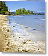 Pacific Ocean Coast On Vancouver Island Metal Print