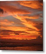 Pacific Sunset Costa Rica Metal Print