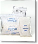 Packets Of Silica Gel Metal Print by Paul Rapson