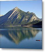 Sunrise Paddle In Peace - Kananaskis, Alberta Metal Print