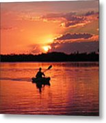 Paddle To Home Metal Print