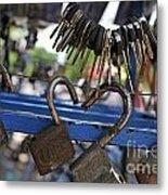 Padlocks And Keys Metal Print