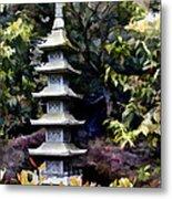 Pagoda Tower Of Zen Metal Print