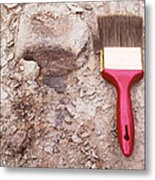Paint Brush Next To Camarasaurus Metal Print