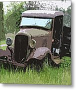 Painted 30's Chevy Truck Metal Print by Steve McKinzie