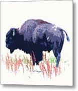 Painted Buffalo Metal Print
