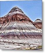 Painted Desert Mounds Metal Print