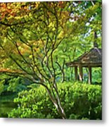 Painted Gardens Metal Print