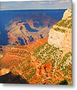 Painted Grand Canyon Before Sunset Metal Print