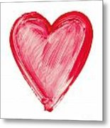 Painted Heart - Symbol Of Love Metal Print