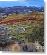 Painted Hills At Dusk Metal Print