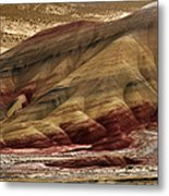 Painted Hills Grooves Metal Print