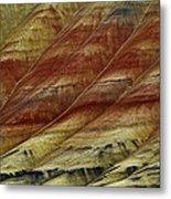 Painted Hills Lines Metal Print