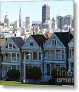 Painted Ladies Metal Print by Linda Woods