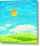 Painting Of Nature In Spring And Summer Metal Print