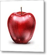 Painting Of Red Apple Metal Print