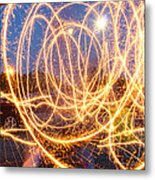 Painting With Sparklers Metal Print by Gordon Dean II