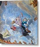 Palace Of Versailles Ceiling Art Metal Print