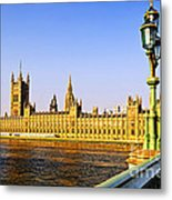 Palace Of Westminster From Bridge Metal Print