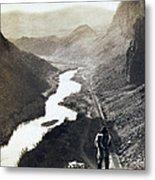 Palisades Railroad View - California - C 1865 Metal Print