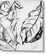 Palm And Leaf Metal Print