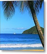 Palm Shaded Island Beach  Metal Print