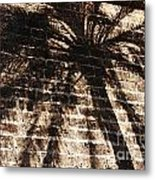 Palm Tree Cup Metal Print